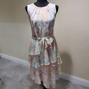 Calvin Klein  SHORT TIER CHIFFON DRESS